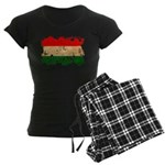 Hungary Flag Women's Dark Pajamas