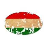 Hungary Flag 38.5 x 24.5 Oval Wall Peel