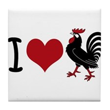 I Heart Cock Tile Coaster