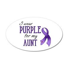 Wear Purple - Aunt 38.5 x 24.5 Oval Wall Peel
