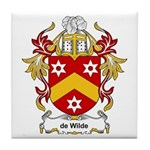 de Wilde Coat of Arms Tile Coaster