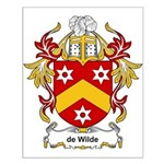de Wilde Coat of Arms Small Poster