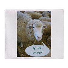 Go Felt Yourself Throw Blanket