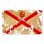 Jersey Flag Sticker (Rectangle 10 pk)