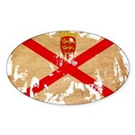 Jersey Flag Sticker (Oval 50 pk)