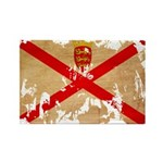 Jersey Flag Rectangle Magnet (100 pack)