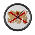Jersey Flag Large Wall Clock