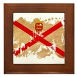 Jersey Flag Framed Tile