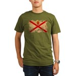 Jersey Flag Organic Men's T-Shirt (dark)