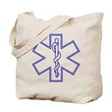 Blue Star of Life (outline) Tote Bag