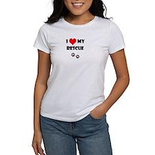 Women's I heart My Rescue T-Shirt
