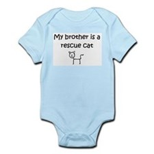 My brother is a rescue cat baby onesie