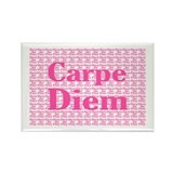 Carpe Diem in Pink Rectangle Magnet