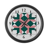 Washington Quilt Large Wall Clock