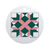 Washington Quilt Ornament (Round)