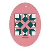 Washington Quilt Ornament (Oval)