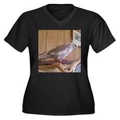 Cockatiel 2 Women's Plus Size V-Neck Dark T-Shirt