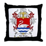 Van Sluys Coat of Arms Throw Pillow