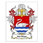 Van Sluys Coat of Arms Small Poster
