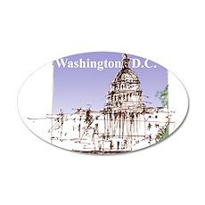 Washington DC 22x14 Oval Wall Peel