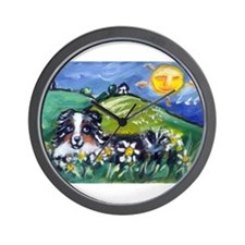 Australian Shepherd blue merl Wall Clock