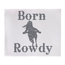Born Rowdy Logo Throw Blanket