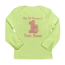 1st Birthday Princess Long Sleeve Infant T-Shirt