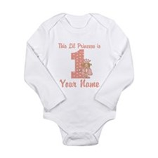 1st Birthday Princess Long Sleeve Infant Bodysuit