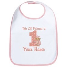 1st Birthday Princess Bib