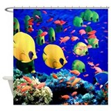 Undersea Coral & Tropical Fish Shower Curtain