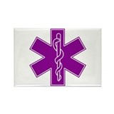 Star of Life - Purple Rectangle Magnet (10 pack)
