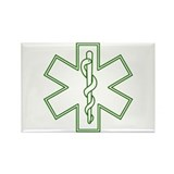 Purple Star of Life (outline) Rectangle Magnet (10