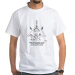 Oil Rig In A Swimming Pook White T-Shirt