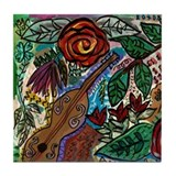 Cute Fauvist painting Tile Coaster
