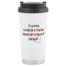 Nurse Humor Ceramic Travel Mug