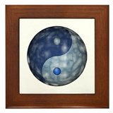 Yin Yang Cloud Framed Tile