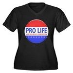 Pro Life Women's Plus Size V-Neck Dark T-Shirt