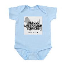 I RESCUE Australian Terriers Infant Bodysuit