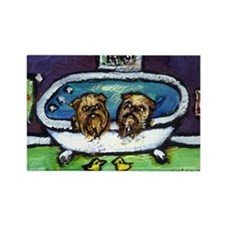 BRUSSELS GRIFFON purple bathr Rectangle Magnet