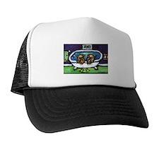 BRUSSELS GRIFFON purple bathr Trucker Hat