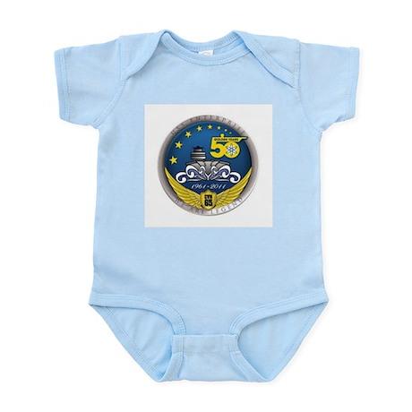 """BIG """"E"""" ENTERPRISE CVN-65 Infant Bodysuit"""