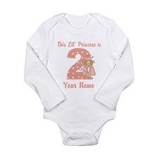 2nd Birthday Princess Long Sleeve Infant Bodysuit