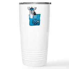 Zebra in a blue bag Stainless Steel Travel Mug