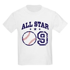 Nine Year Old Baseball All Star T-Shirt