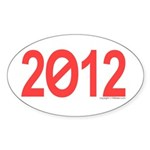 2012 oval sticker
