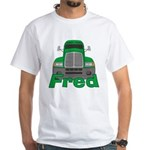 Trucker Fred White T-Shirt