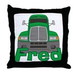 Trucker Fred Throw Pillow
