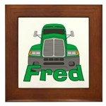Trucker Fred Framed Tile
