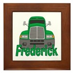 Trucker Frederick Framed Tile
