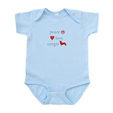 Peace, Love and Corgis Infant Bodysuit